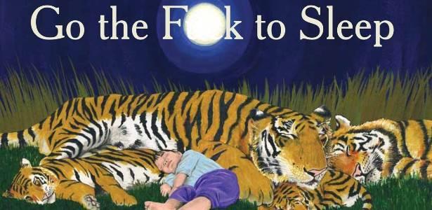 Detalhe da capa do livro Go the F**k to Sleep, de Adam Mansbach, com ilustrações de Ricardo Cortés