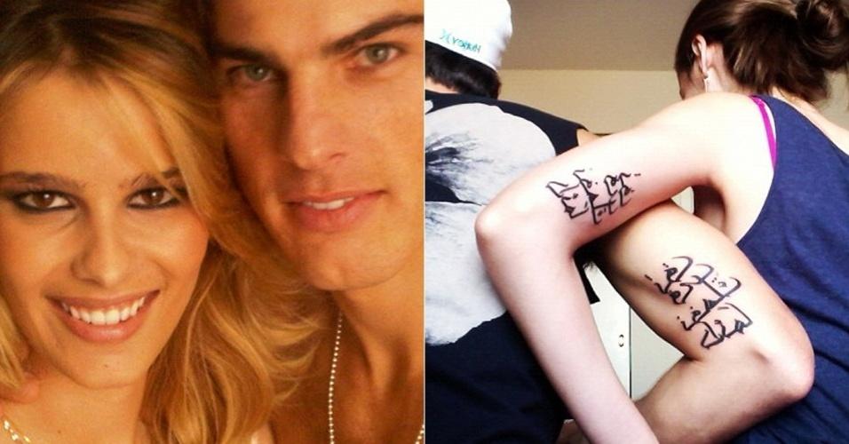 A modelo Yasmin Brunet publicou, nesta sexta-feira (6), uma foto em seu Twitter que mostra que ela e o namorado, Evandro Soldati, fizeram a mesma tatuagem. O significado do desenho não foi revelado. Os dois namoram há sete anos e moram juntos em Nova York, nos Estados Unidos (6/7/12)