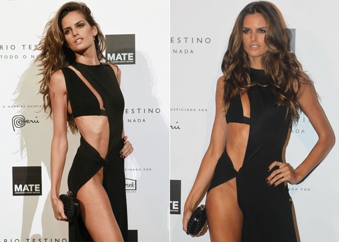 A top Izabel Goulart compareceu ao evento baile de gala do Mate - organiza&#231;&#227;o cultural sem fins lucrativos do fot&#243;grafo Mario Testino - com um vestido basntante ousado. Sem calcinha, a bela deixou &#224; mostra parte da virilha, atraindo cliques e olhares no tapete vermelho do evento &#40;12/7/12&#41;