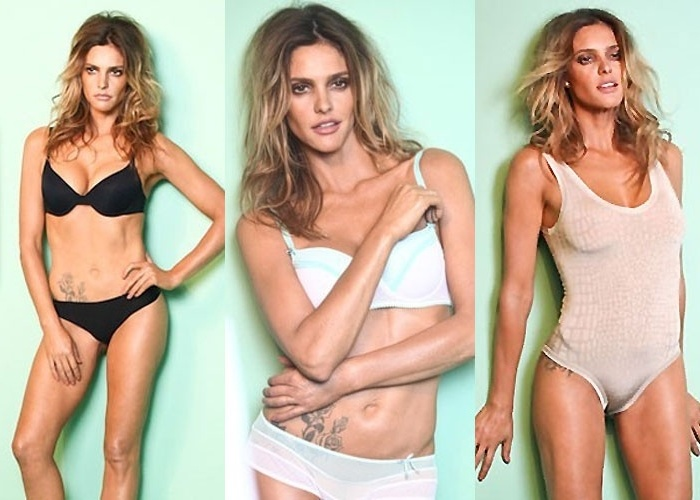 Fernanda Lima emprestou seu corpo para a campanha da nova coleo da Scala (julho/2012). A apresentadora posou com as peas da marca de lingerie e mostrou sua barriga chapada nas imagens feitas por Ale Dequeker
