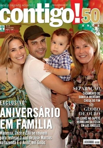 15.jan.2013 - Wanessa comemorou o primeiro ano de seu filho, Jos Marcus, na fazenda da famlia em Gois (GO) ao lado do pai, Zez Di Camargo, e da me, Zil. Apesar da separao recente do casal, a famlia celebrou com unio a festa do garoto, que ganhou decorao especial de fazendinha