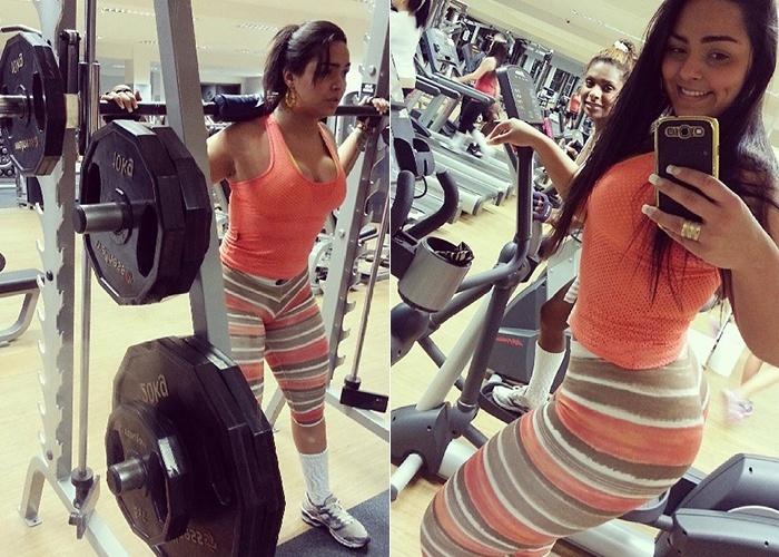 8.mai.2013 - Andressa Soares divulga fotos suas no Instagram durante a malhação.
