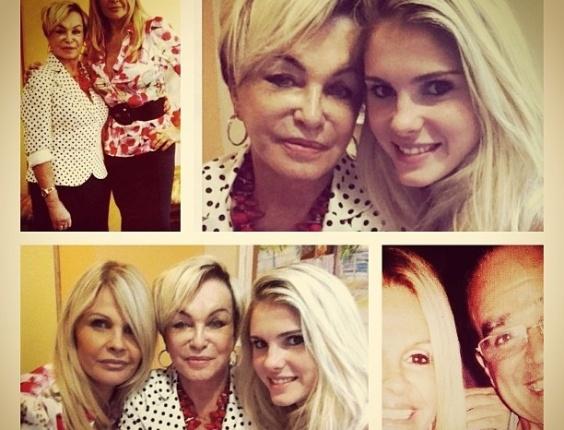 10.mai.2013 - Por meio do seu Instagram, a apresentadora Monique Evans divulgou fotos de três gerações de sua família: ela, a filha Bárbara Evans, e a mãe de Monique, Conceição Nery, de 76 anos.