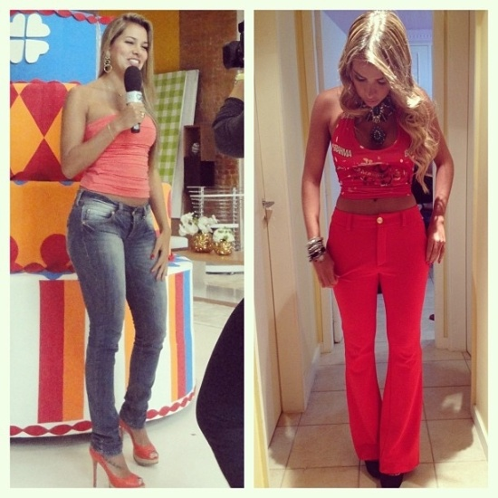 15.mai.2013 - A ex-BBB Adriana Sant&#39;Anna posta no Instagram um &#34;antes e depois&#34; da dieta que a fez perder 12 quilos em um ano. A modelo fez a compara&#231;&#227;o usando uma imagem do tempo em que havia sa&#237;do do &#34;BBB&#34;, em 2011, e outra foto mais recente, do Carnaval deste ano. &#34;Eu n&#227;o busquei perder peso e ter uma alimenta&#231;&#227;o saud&#225;vel s&#243; pensando na est&#233;tica, mas sim na minha sa&#250;de como um todo&#34;, defendeu a ex-sister