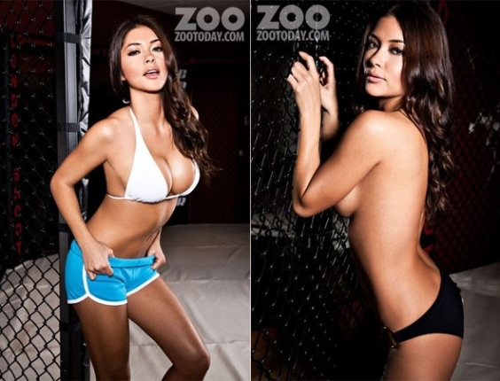 A musa do UFC Arianny Celeste fez um ensaio sensual para a revista 