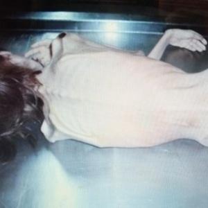 Foto mostra o corpo do adolescente após ser levado ao IML