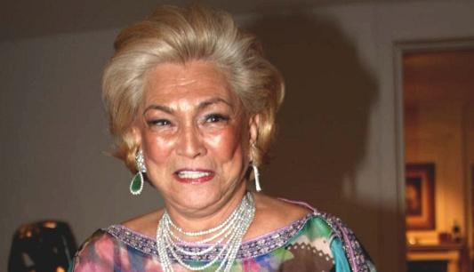 Hebe Camargo na casa do empresário João Doria em São Paulo (10.12.2009)