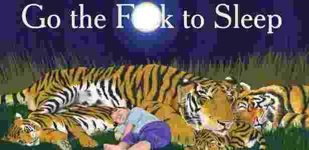 """Detalhe da capa do livro """"Go the F**k to Sleep"""", de Adam Mansbach, com ilustrações de Ricardo Cortés - Divulgação"""