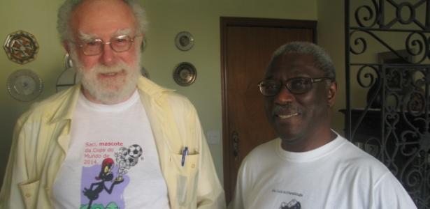Mouzar Benedito e Mário Cândido, fundadores da Sociedade dos Observadores de Saci (Sosaci)