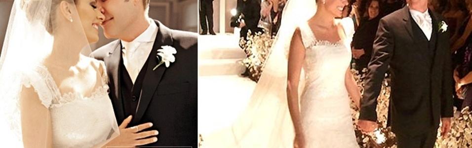 A apresentadora Luísa Mell se casou com o empresário Gilberto Zaborowsky em São Paulo (27/11/11).