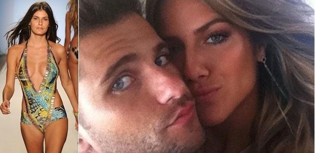 Top model Carol Francischini (esq.) é apontada como pivô da separação de Bruno Gagliasso e Giovanna Ewbank; o ator seria o pai do filho que a modelo espera