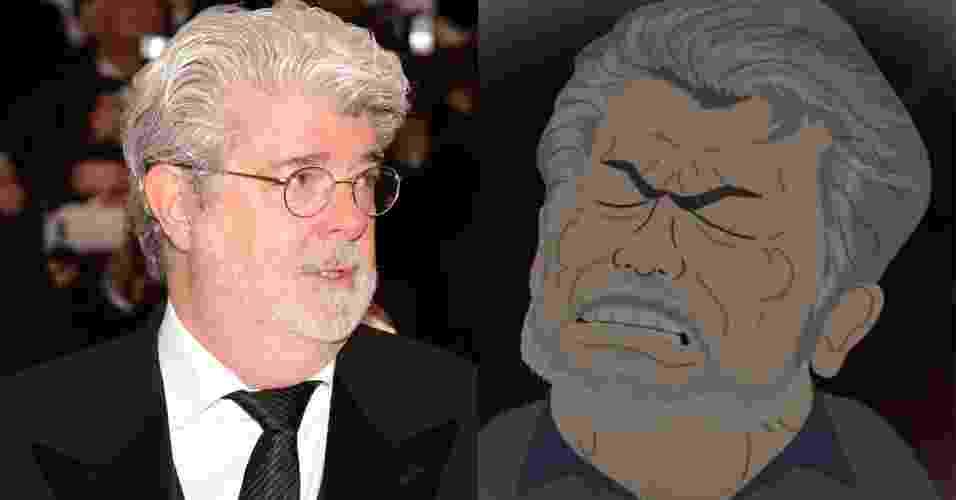 George Lucas em versão South Park - Montagem UOL