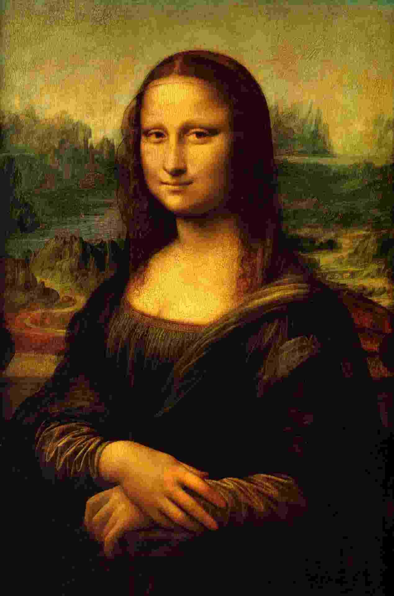 """""""Mona Lisa"""", tela do renascentista Leonardo da Vinci. A obra também é conhecida como """"La Joconde"""" ou """"Mona Lisa del Giocondo"""" - Reprodução"""