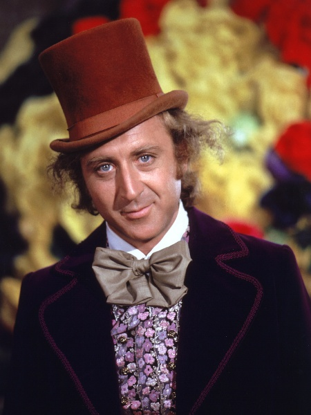 "Gene Wilder como Willy Wonka, de ""A fantástica fábrica de chocolate"" (1971) - Brainpix"