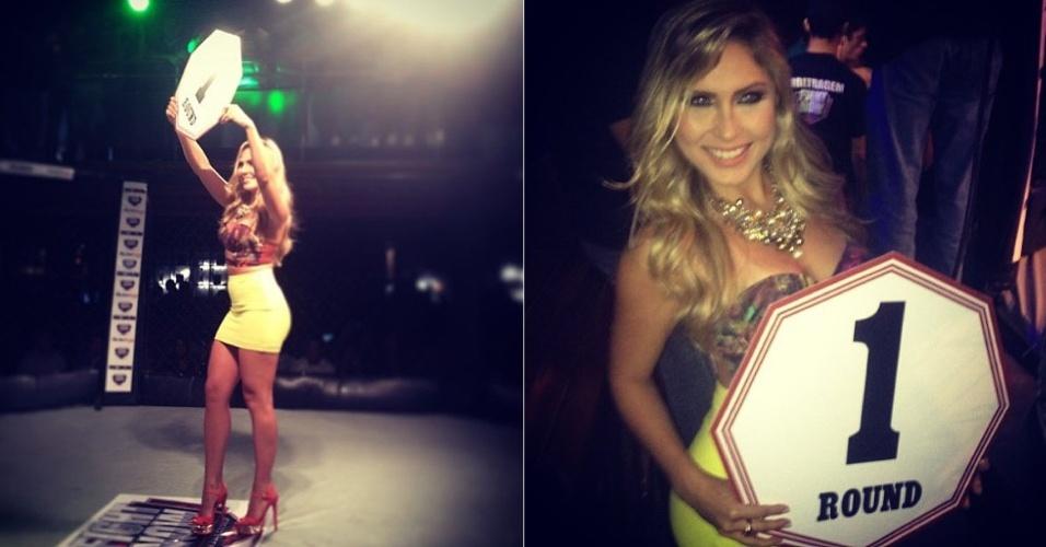26.jan.2013 - Ex-BBB Renata D'Ávila posta em seu perfil no Instagram foto sua posando de ring girl em uma casa de eventos em Maceió (AL)